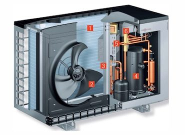 Air Source Heat Pump, Heat Exchanger System for Low Cost Central Heating, Commercial and Domestic Hot Water Heater: Eco House Solutions, UK